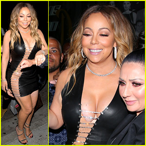 Mariah Carey Rocks a Super Sexy Dress for Dinner!