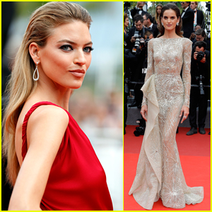 Martha Hunt & Izabel Goulart Go Glam for Cannes 2017