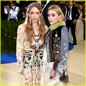 Mary-Kate & Ashley Olsen Arrive at Met Gala 2017 Looking Lovely in Lace