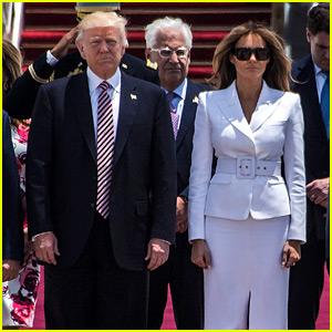 Melania Trump Swats Away the President's Hand in Israel