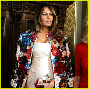 Melania Trump Wears Super Expensive Coat in Italy