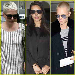 Michelle Williams, Adriana Lima, & Cara Delevingne Arrive in France for Cannes Film Festival