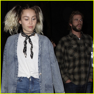 Miley Cyrus & Liam Hemsworth Couple Up For The Flaming Lips Concert