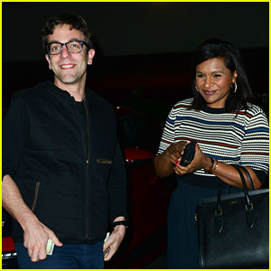 Mindy Kaling & BJ Novak Grab Sushi Dinner Together