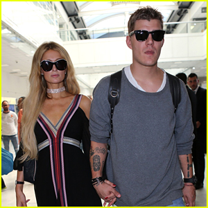 Paris Hilton & Chris Zylka Arrive in Style for Cannes Film Festival