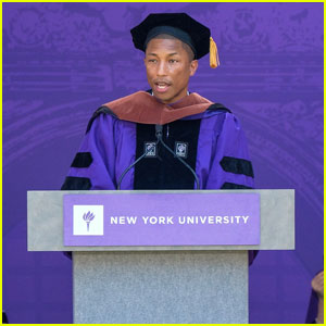 Pharrell Williams Speaks About Women's Rights During NYU Commencement Speech (Video)