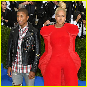 Pharrell Williams Wears Ripped Jeans to Met Gala 2017, Wife Helen Lasichanh Wears Armless Outfit!