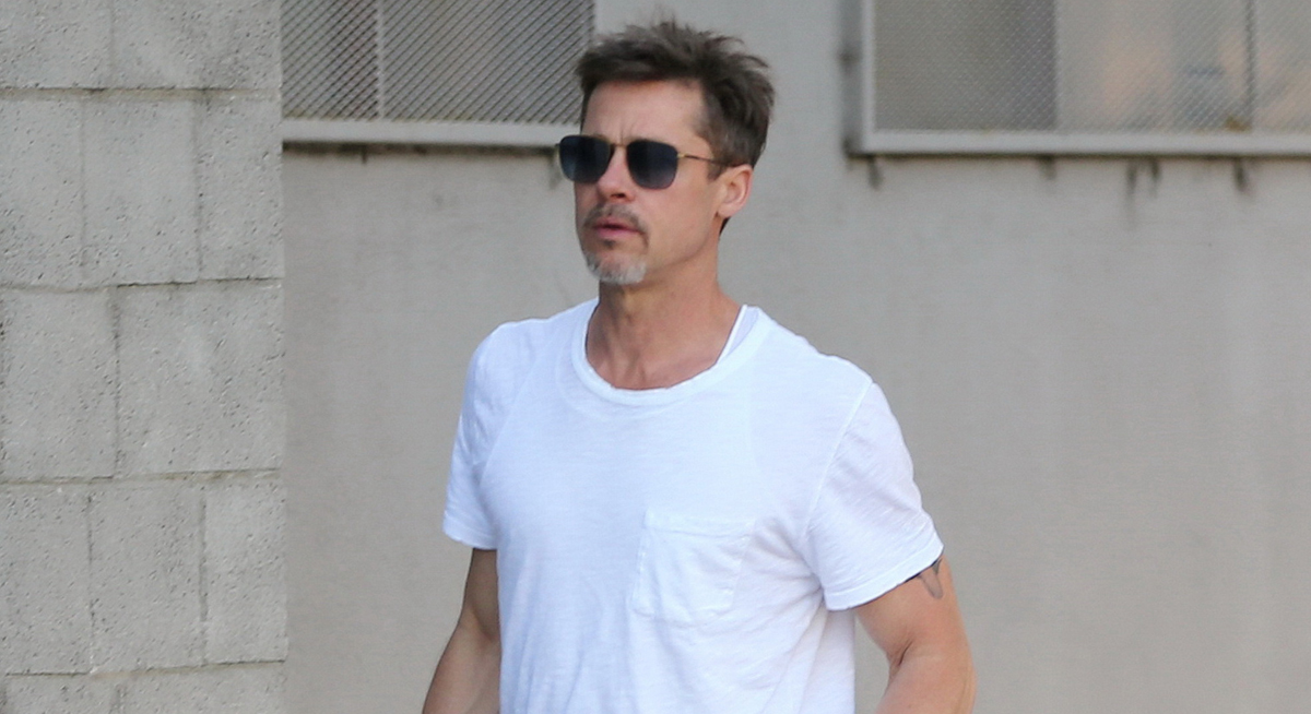 Brad Pitt Shows Slim F...