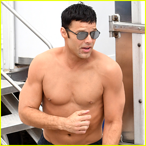 Ricky Martin Covers Up His Tattoos as He Goes Shirtless on 'Versace' Set!