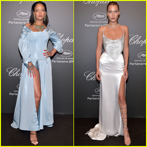 Rihanna Celebrates Her 'Chopard' Collection With Bella Hadid