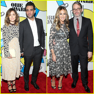 Rose Byrne & Sarah Jessica Parker Couple Up At 2017 Obie Awards!