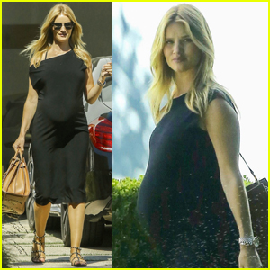 Rosie Huntington-Whiteley Steps Out Following Gorgeous Baby Shower