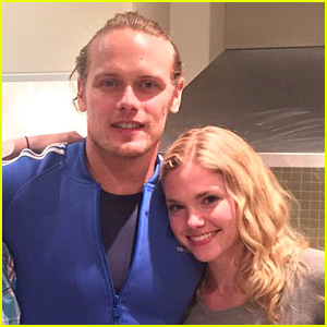 Sam Heughan Celebrates Birthday with Girlfriend MacKenzie Mauzy!