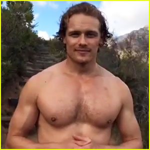 Sam Heughan's Shirtless Body Is On Display for My Peak Challenge!