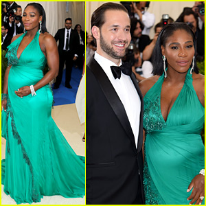 Serena Williams Brings Her Baby Bump to Met Gala with Fiance Alexis Ohanian!