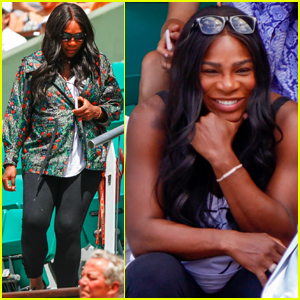 Pregnant Serena Williams Watches Sister Venus at French Open