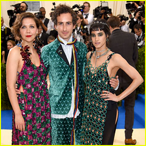 Sofia Boutella & Maggie Gyllenhaal Arrive at Met Gala 2017 Decked Out in Marni
