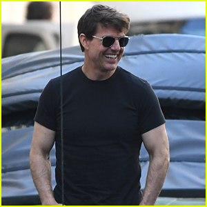 Tom Cruise is All Smiles on Set of 'Mission Impossible 6' in Paris