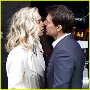 Tom Cruise & Vanessa Kirby Share On-Set Kiss for 'Mission: Impossible 6'