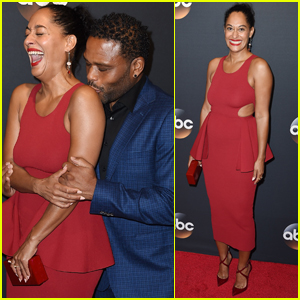 Tracee Ellis Ross & Anthony Anderson Couple Up at ABC Upfronts
