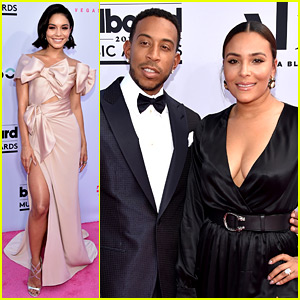 Vanessa Hudgens Hits BBMAs Red Carpet with Ludacris & His Wife!