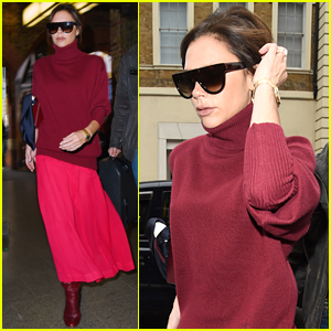 Victoria Beckham Bundles Up as She Travels to Paris