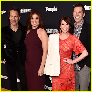 'Will & Grace' Cast Meets Up at EW & People's Upfronts Party!