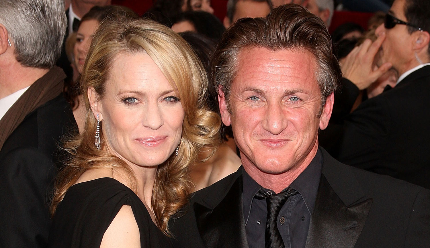 Robin Wright with her second husband, Sean Penn