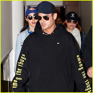 Zac Efron Arrives Down Under with 'Bae Babe' Alexandra Daddario