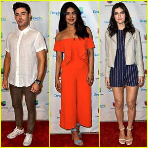 Zac Efron, Priyanka Chopra, & Alexandra Daddario Promote 'Baywatch' in Miami