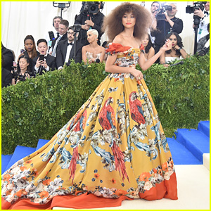 See Zendaya's Golden Gown For Met Gala 2017