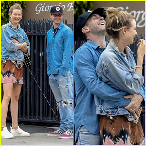 Adam Levine & Behati Prinsloo Flaunt Cute PDA on Date Night!