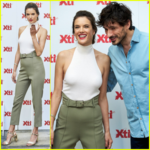 Alessandra Ambrosio Hits Madrid For XTI Shoes Summer Collection Launch!