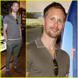Alexander Skarsgard Shows Support for Tod's at Milan Fashion Week
