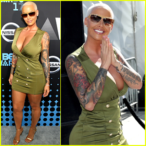 Amber Rose Shows Off Her Tattoos at BET Awards 2017