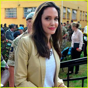 Angelina Jolie Spends World Refugee Day in Kenya