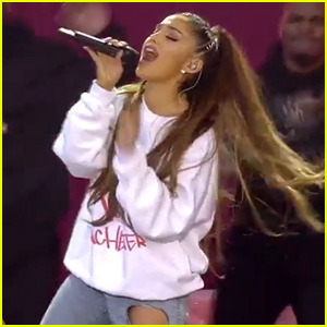 Ariana Grande Sings 'Break Free' at 'One Love Manchester' (Video)