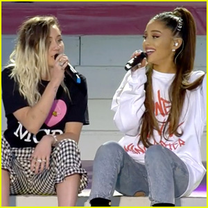 Ariana Grande & Miley Cyrus Sing Together at 'One Love Manchester' (Video)