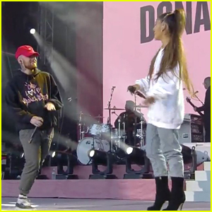 Ariana Grande Dances With Mac Miller For 'The Way' Performance at One Love Manchester Concert