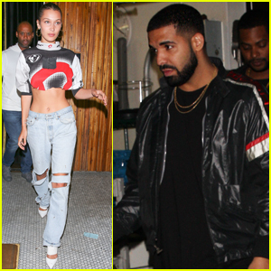 Bella Hadid Has a Night Out With Drake at The Nice Guy!