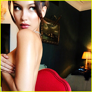 Bella Hadid Poses Topless in a Thong in Sultry Instagram Photo