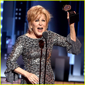 Bette Midler Outlasts Playoff Music During Tony Awards Acceptance Speech! (Video)