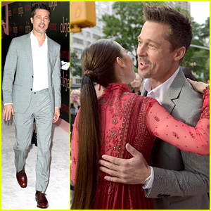 Brad Pitt Gives Out Lots of Hugs at 'Okja' NYC Premiere!