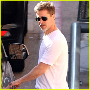 Brad Pitt Wears a Simple White Tee While Running Errands