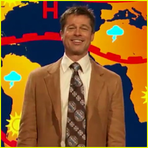Brad Pitt Returns as Weatherman for 'Jim Jefferies Show' (Video)