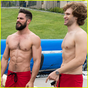 PLL's Brant Daugherty & Keegan Allen Go Shirtless for Upcoming 'Battle of the Network Stars'