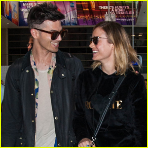 Brie Larson & Fiancé Alex Greenwald Couple Up at LAX