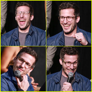 Andy Samberg Gets Animated at 'Brooklyn Nine-Nine' Panel