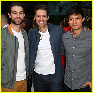 Chace Crawford & Harry Shum Support Matthew Morrison at 'Sherpapa' Launch Event