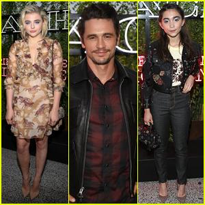 Chloe Moretz, James Franco, & Rowan Blanchard Attend Coach's High Line Summer Party